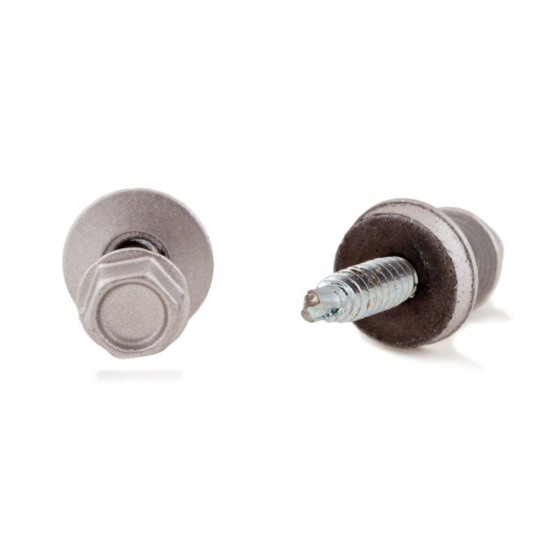Plastic Roof Screw A/P Silver