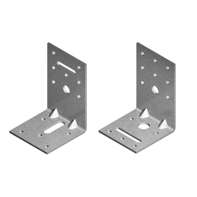 Angle Bracket reinforced with oblong hole (2.5 mm) HDG
