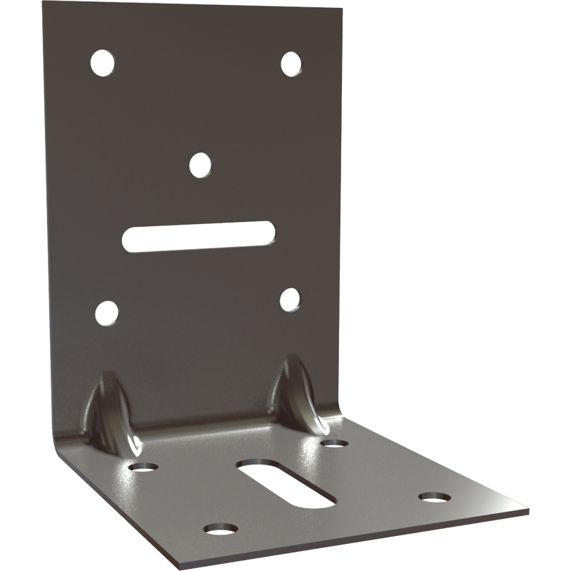 Angle Bracket reinforced with oblong hole P2 (2.5 mm) HDG