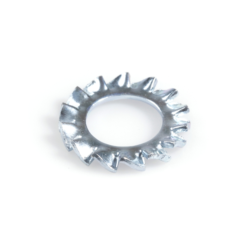 Serrated lock washer with external gear A2