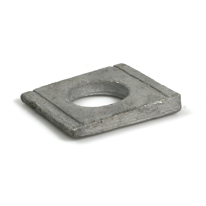 Square Taper Washer for U-Sections 8% HDG