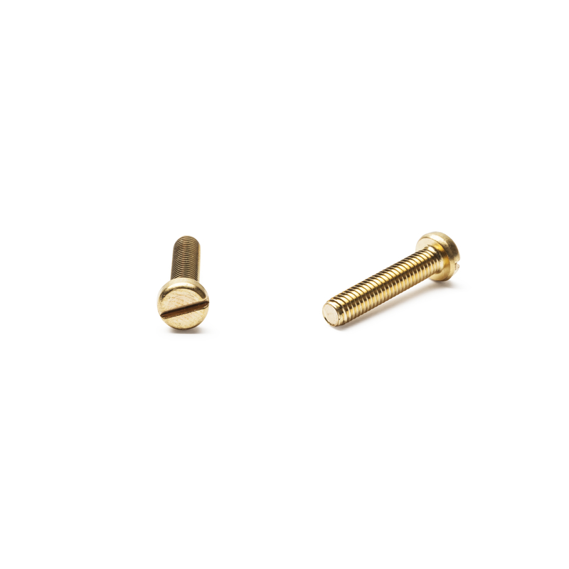 Slotted Cheese Head Screw Brass