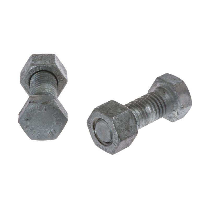 Hexagon High Tensile Structural Bolt 8.8 ISO 4017 with Nut ISO 4032 HDG