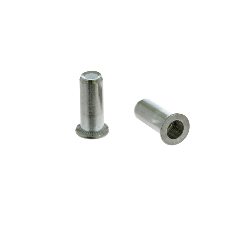 Closed End Rivet Nut FTTC aluminum cylindrical with flat head