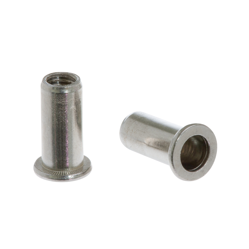 Blind Rivet Nut FTT A2 cylindrical with flat round head