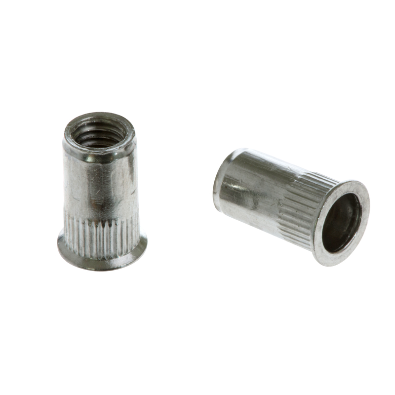 Knurled Rivet Nut FTR A2 with reduced CSK head