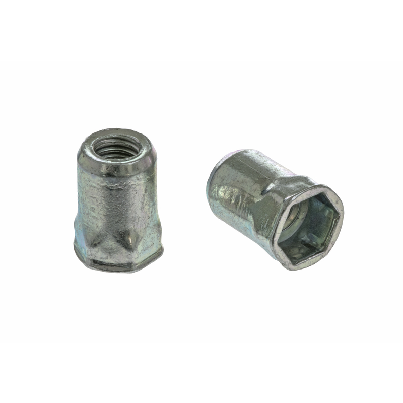 Blind Rivet Nut FTRE steel Hexagon with reduced CSK head