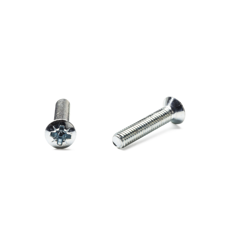 Cross Recessed Raised CSK Head Screw 4.8 BZP
